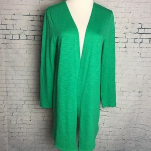 CHICO'S Size 0 Small Open Front Duster Cardigan